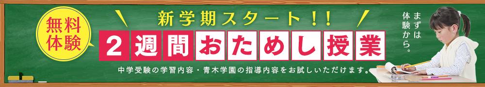 無料体験!2週間おためし授業!